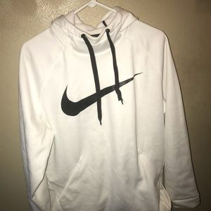 Men's Nike dry fit white cowl neck hoodie